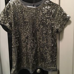 Abercrombie & Fitch Sequined Tee